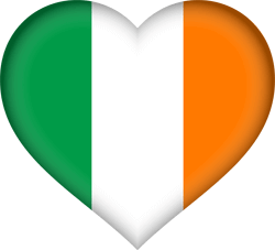 irish flag in a heart